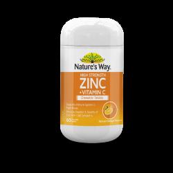 High Strength Zinc + Vitamin C Chewable tablets